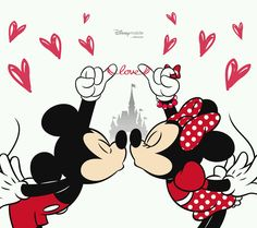 mickey y minnie love