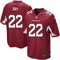 Men Nike Arizona Cardinals #22 William Gay Game Red Team Color NFL Jersey Sale