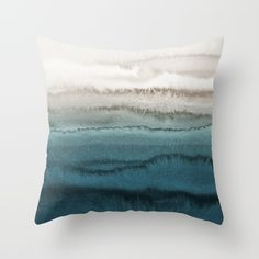 WITHIN THE TIDES - CRASHING WAVES Throw Pillow by Monika Strigel - $20.00
