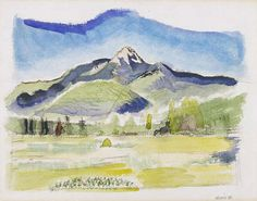 john marin - Mt. Chocurua - White Mountains, 1926