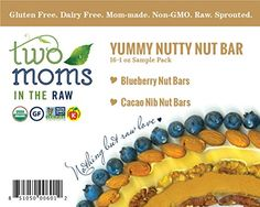 Two Moms in the Raw Yummy Nutty Organic, Gluten-Free Nut Bar Variety Pack, 16 Count