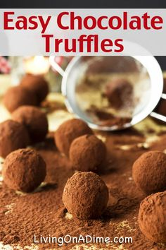 Easy Chocolate Truffles Recipe - A Gluten Free Candy you can make in just a few minutes!