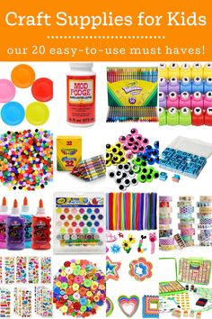 The best craft supplies for kids are these 20 easy-to-use picks – selected by a mom of five and former teacher! Get the ultimate list. Let's face it – kids love crafting! It's tactile, they can be creative, and sometimes it's even messy. And what child doesn't love messy? One thing I've noticed about kids … The post Craft Supplies for Kids: 20 Items for Guaranteed Fun! appeared first on Mod Podge Rocks. Fun Crafts, Crafts For Kids, Easy To Use, Craft Supplies, Creative Kids, Our Kids, Fun Projects, The Selection, Let It Be