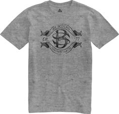 Burton Pennant Speckled Tri-Blend T-shirt Heather Grey
