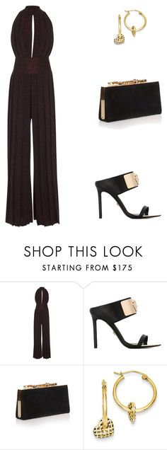 """""""The Gallows Premiere in Los Angeles."""" by cmmpany ❤ liked on Polyvore featuring BY. Bonnie Young, Versace and Jimmy Choo"""