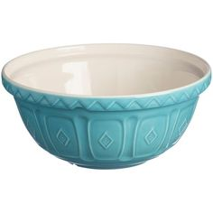 Mason Cash 29Cm Turquoise Mixing Bowl (3650 RSD) ❤ liked on Polyvore featuring home, kitchen & dining, kitchen gadgets & tools, mason cash mixing bowl, colored mixing bowls, mason cash, mason cash mixing bowls and earthenware bowl