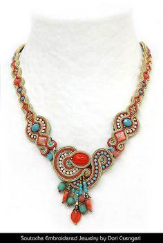 Embroidery Reinvented – Soutache JewelryTERESA RESTEGUI… http://www.pinterest.com/teretegui/