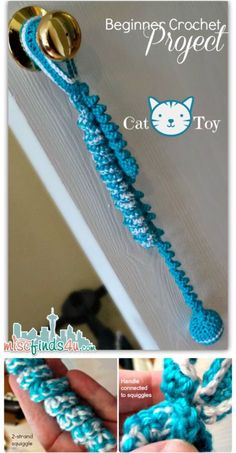 Super Easy Crocheted Cat Toy