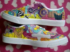 Thank you, ate Mae for ordering a pair of Doodle Shoes! Doodle Shoes, Painted Shoes, Doodles, Vans, Slip On, Sneakers, Disney, Crafts, Fashion