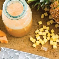Melon And Pineapple Agua Fresca
