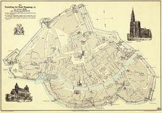Plan de l'enceinte médiévale de Strasbourg - 1676