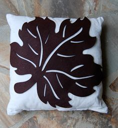 Imparting Grace: Simple fall craft: autumn leaf pillow