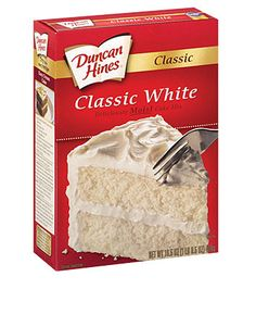 Duncan Hines Classic White Cake Mix is dairy-free and egg-free. Follow our family's allergy story at www.foodallergyninja.com