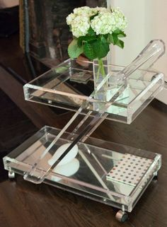 Lucite…  Bar Tray