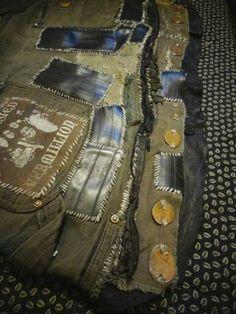 Crust Punk Carhartt Skirt by BoneYardDogz on Etsy