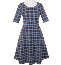 Fair Trade Country Estate Dress in Blue - Tango Zulu Imports