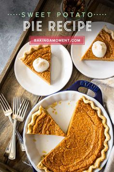 The flavors in this southern sweet potato pie recipe are so on point! Earthy roasted sweet potatoes with brown sugar & spices, baked in a flaky crust. Vegan Sweet Potato Pie, Freeze Sweet Potatoes, Roasted Sweet Potatoes, Homemade Pie Crusts, Pie Crust Recipes, Holiday Pies, Flaky Pastry, No Bake Pies, Dessert Recipes