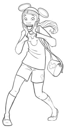 Excited Disney Teen http://cartoonstudy.deviantart.com/art/Asian-Teen-Excited-About-All-Things-Disney-WiP-634207788