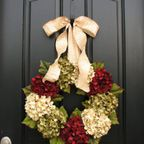 Holiday Wreaths, Christmas Wreath, Christmas Hydrangeas, Front Door Wreaths, Holiday Home Decor by twoinspireyou on Etsy Holiday Wreaths, Holiday Fun, Holiday Crafts, Christmas Decorations, Holiday Decorating, Friday Holiday, Door Decorating, Winter Wreaths, Winter Holiday