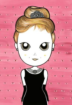 #illustration #audrey #audreyhepburn   #hepburn #breakfastattiffany's #breakfastattiffanys #bonequinha #luxo #bonequinhadeluxo #cartaz #poster #drawn #girl #cinema #character