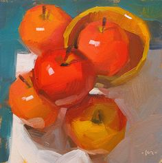 Apple Accumulation, painting by artist Carol Marine Great Paintings, Original Paintings, Oil Paintings, Oil Painting Lessons, Apple Painting, Apple Art, Still Life Art, Fine Art Gallery, Painting Inspiration
