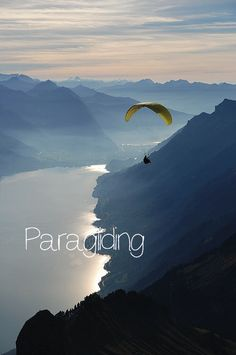 My Bucket List, Paragliding. In Rio would be great also for places to Paraglide ;D