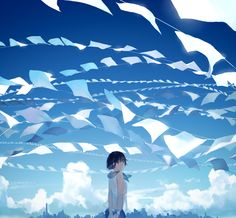 paper and sky