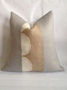 Hey, I found this really awesome Etsy listing at https://www.etsy.com/listing/204125395/light-gray-burlap-with-scalloped-cream