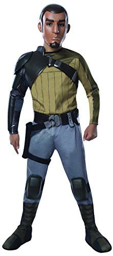 Deluxe Kanan Jarrus This licensed Star Wars Rebels Deluxe Kanan Jarrus child costume features a jumpsuit with molded pieces and boot tops, belt with holster and mask. Kids Star Wars Costumes, Star Wars Halloween, Kids Costumes Boys, Boy Costumes, Cosplay Costumes, Halloween 2020, Adult Costumes, Star Wars Rebels, Creative Halloween Costumes