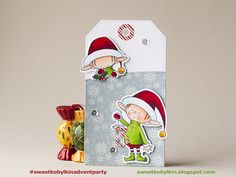 Santa's Elves from My Favorite Things Xmas Elf, Christmas Tag, Christmas Crafts, Holiday Gift Tags, Jingle All The Way, Winter Cards, Copics, Xmas Cards, Homemade Cards
