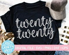 Twenty Twenty SVG Cut File – Crazy Crafty Lady Co. Compatible with vinyl cutting machines such as Cricut and Silhouette Cameo! Great for DIY craft projects such as kids' New Year's Eve shirts, 2020 party decor, women's New Year's Day outfits, and more! New Years Eve Shirt, Kids New Years Eve, New Years Shirts, New Years Eve Outfits, New Years Party, Mom Shirts, Cute Shirts, New Years Eve Quotes, New Year's Eve 2020