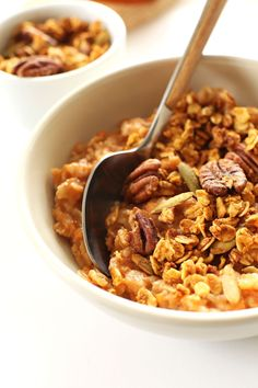 Sweet Potato Pie Oats - healthy, warm, comforting, sweet, simple, and perfect for chilly mornings!
