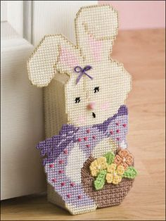 easter plastic canvas patterns | Details about Easter Plastic Canvas Patterns Tissue Cover Bunny Cross
