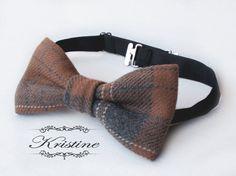 Mens wool bow tie  Vintage plaid wool bow tie  by KristineBridal, $39.99