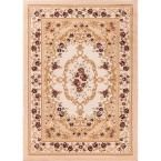 Dulcet Versaille Ivory 9 ft. 3 in. x 12 ft. 6 in. Traditional Area Rug
