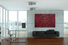 Öl Gemälde 'Glühende Wärme' 180x120cm