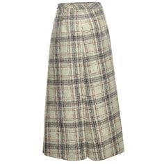 J.W.Anderson Light Red Plaid Felt Wrap Midi Skirt (340 CAD) ❤ liked on Polyvore featuring skirts, bottoms, wrap around skirt, red skirt, wrap skirt, brown midi skirt and brown plaid skirt