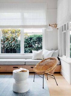 Décor do dia: sala de estar clean com materiais naturais (Foto: reprodução)