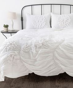 Take a look at this White Hush Comforter Set on zulily today!