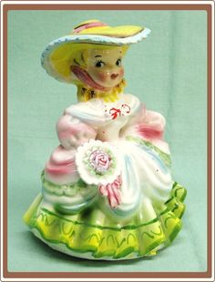 This reminds me of my childhood.  My Maternal grandmother and I spent a lot of time together, painting ceramic figurines.  If memory serves, she would make them, and 'I' would paint them.   :.)