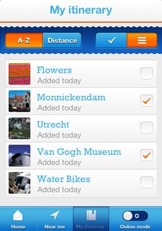 Use the app to make a personalized itinerary. #Holland #travel