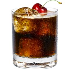 Soda Shop....Little Black Dress Black Cherry Vanilla Vodka, Coke