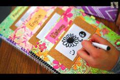 DIY whiteboard/cork board notebook for school!