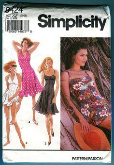 911f44f4a8 Simplicity 8424 Dress Bathing Suit Swim Dress Panties Sewing Pattern -  UNCUT - Misses Size 20-26 Plus Size Summer