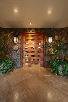 Main Door Design Entrance Hallways Ideas For 2019 House Entrance, Entrance Doors, Modern Entrance Door, Entrance Ideas, The Doors, Windows And Doors, Hawaiian Homes, Modern Hallway, Main Door Design