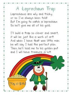 Provacations- children build a trap to catch a leprechaun