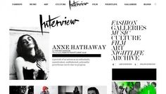 Interview Magazine site redesign by CodeandTheory.com