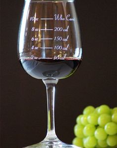 Take drinking responsibly to a whole new level with the calorie counting wine glass - with each pour you'll be able to guilt trip yourself determine how many...