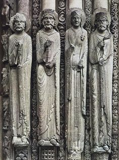 Jamb Statues At Chartres Cathedral | Jamb statues, Chartres Cathedral (France) Gothic - 1140-1500