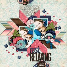 Just Relaxing - Scrapbook.com - Gorgeous shapes and colors in this digital layout.